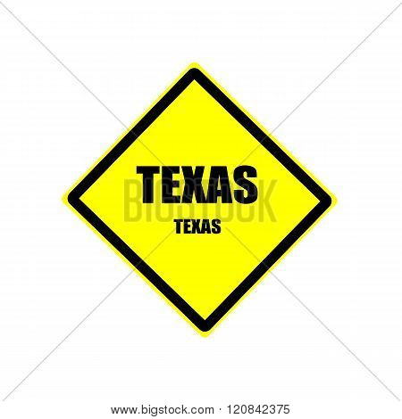 Texas Black Stamp Text On Yellow Background