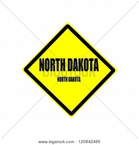 North Dakota Black Stamp Text On Yellow Background
