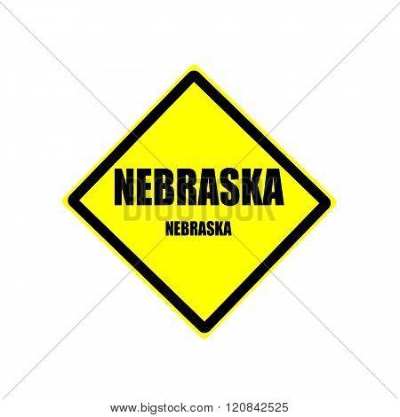 Nebraska  Black Stamp Text On Yellow Background