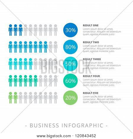 Horizontal Infographic Chart Template
