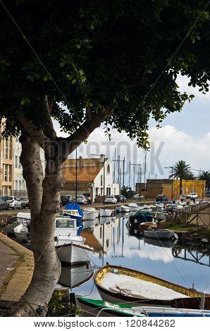 Marina for fishing boats at Carloforte, San Pietro island, Sardinia