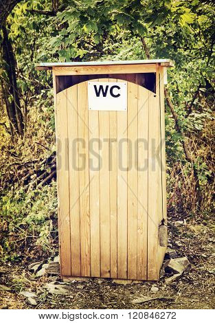 Outdoors Toilet Or Wooden Latrine