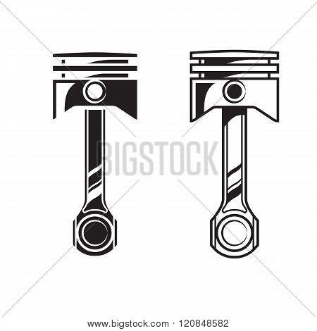 Vector Car Engine Piston
