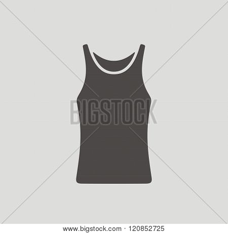 Vector illustration of singlet icon on background