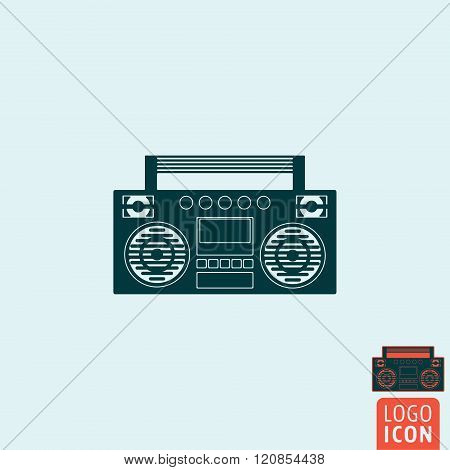 Boombox Icon Isolated