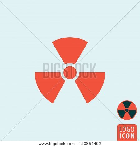 Radiation Icon Isolated