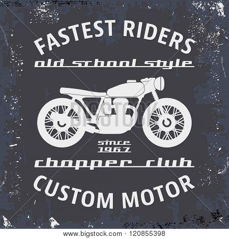 Motorcycle Vintage Stamp