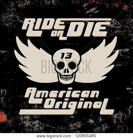 Ride Or Die Vintage Stamp