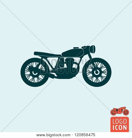 Motorcycle Icon Isolated