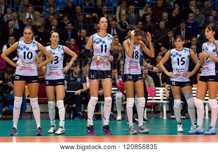 Kazan Team Players On Timeout
