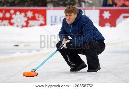 Curling Player D. Abanin
