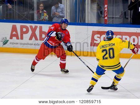 Jiri Krasny (26) And Willy Lindstrom (20)