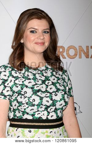 LOS ANGELES - MAR 7:  Casey Wilson at the The Bronze Premiere at the SilverScreen Theater at the Pacific Design Center on March 7, 2016 in Los Angeles, CA