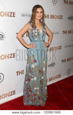 LOS ANGELES - MAR 7:  Haley Lu Richardson at the The Bronze Premiere at the SilverScreen Theater at the Pacific Design Center on March 7, 2016 in Los Angeles, CA
