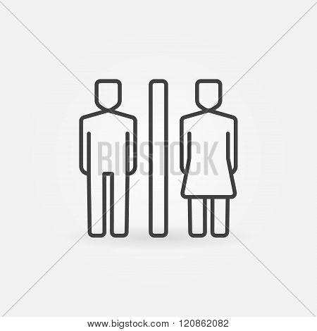Toilet line icon