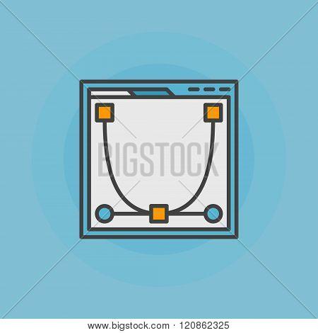 Web design flat icon or logo