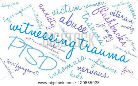 Witnessing Trauma Word Cloud