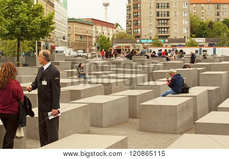 Germany-berlin, May 2016. Memorial For The Murdered Jews Of Europe In Berlin In May 2016