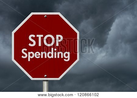 Stop Spending Road Sign