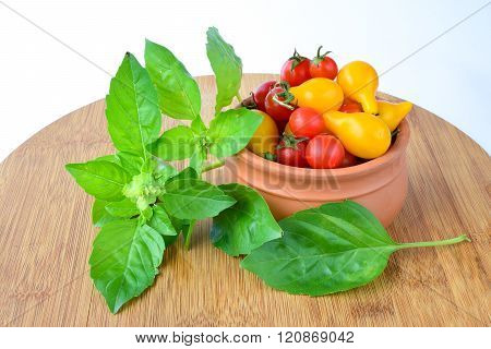 Basil And Cherry Tomato