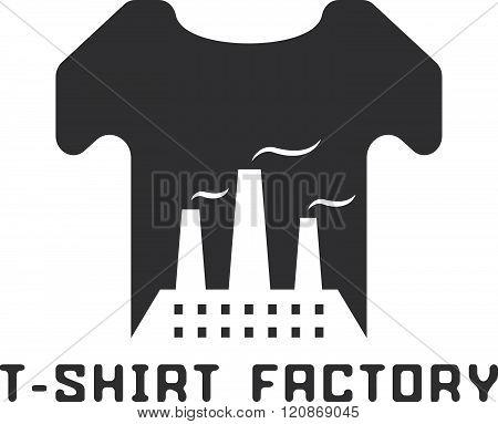 T-shirt Factory Negative Space Concept Vector Illustration