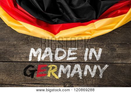 Germany Flag With Text Made In Germany