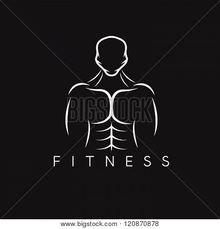 Bodybuilder Fitness Model Illustration . Concept Of Graphic Clipart Work