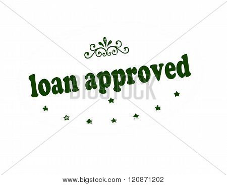 Rubber stamp with text loan approved inside vector illustration
