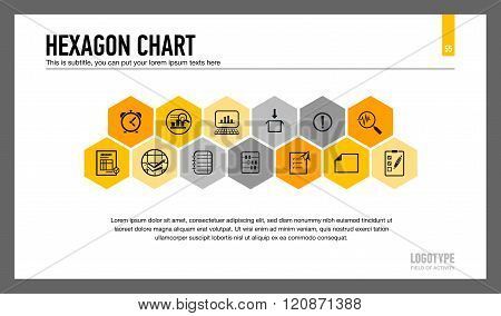Hexagon Chart Presentation Slide
