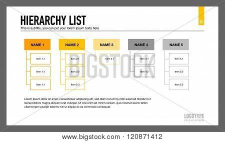 Hierarchy List Presentation Slide