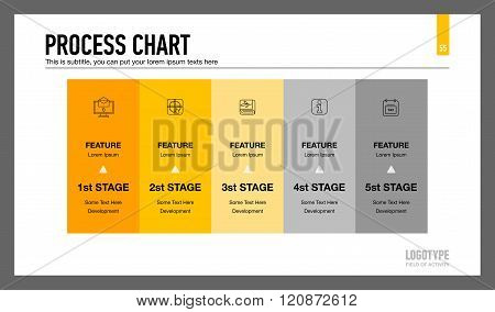 Process Chart Slide Template
