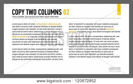 Two Columns Text Slide