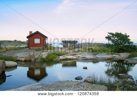 Small Huts In The Outer Acrhipelago
