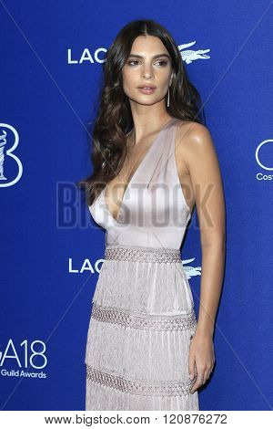 LOS ANGELES - FEB 23: Emily Ratajkowski at the 18th Costume Designers Guild Awards at the Beverly Hilton Hotel on February 23, 2016 in Beverly Hills, California