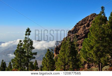 Mountain landscape, Canary islands