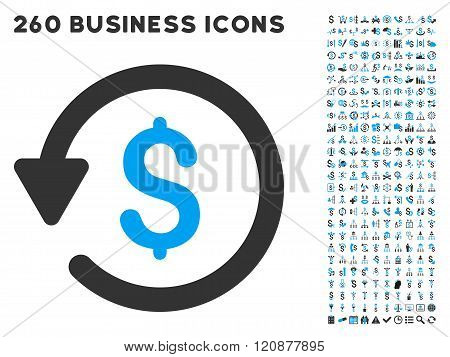Rebate Icon with Flat Glyph Set