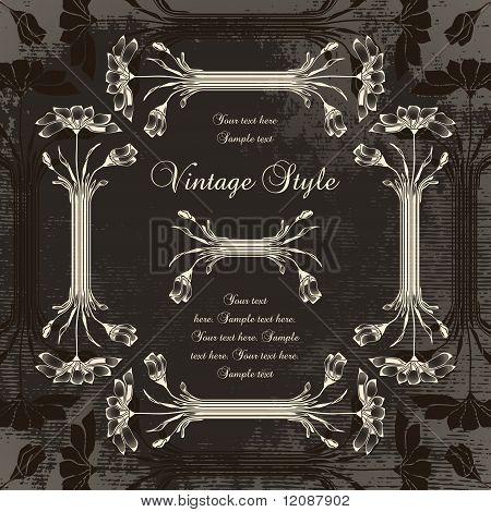 vintage frame with chamomile