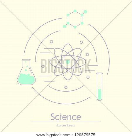 Science icons. Chemical tools and utensils. Laboratory equipment. Chemical test tubes icons. Research and science. Lab glassware. Lab Eco icon isolated. Vector Illustration graphic elements for design.