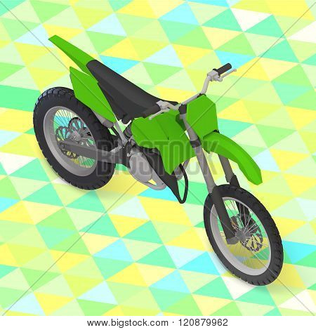 motorcycle isometric. cross motorbike vector
