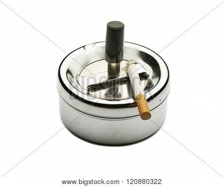 Bad Addiction. Ashtray And Cigarette