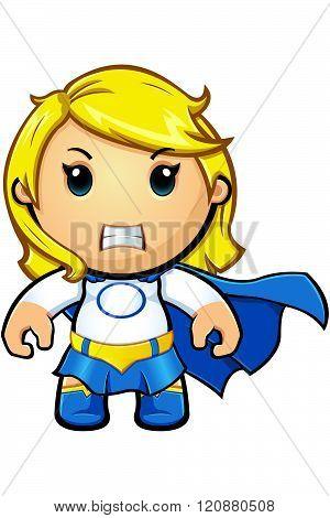 Blue And White Super Girl