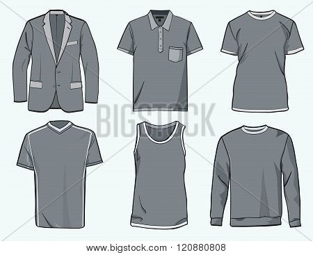 Mens Clothing Templates.