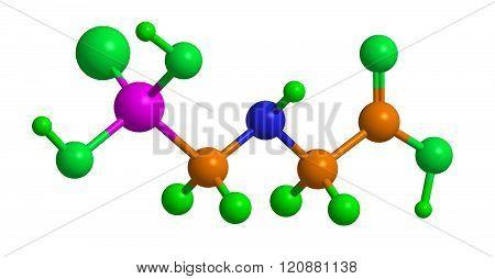 Molecular Structure Glyphosate