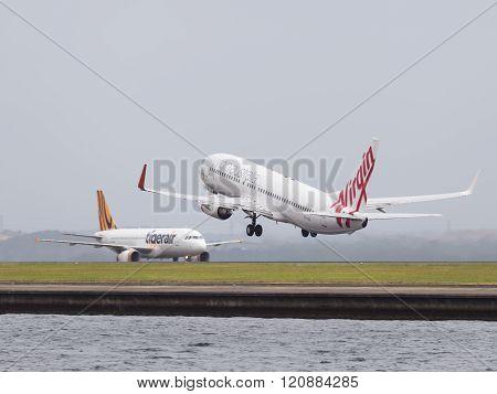 Boeing 737-8Fe Virgin Soars, Sydney