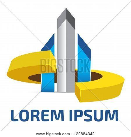 Futuristic style citadel logo