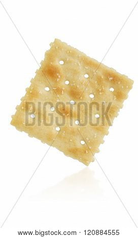 Saltine Cracker On White