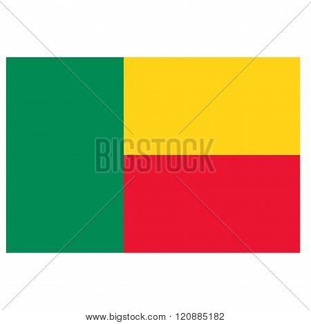 A flag of Benin