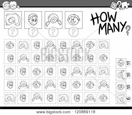 Counting Activity Coloring Book