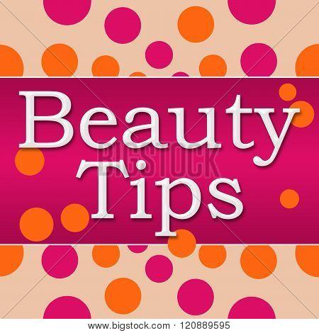 Beauty Tips Pink Orange Square
