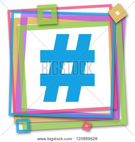 Hash Symbol Colorful Frame